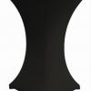 Stehtisch mit schwarzer Husse Ø 60cm